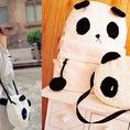 Ba lô vải bố kèm túi con đeo chéo hình gấu Panda