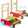 Xe tập đi cho bé, xe tập đi bằng gỗ, xe tập đi bằng gỗ IQ TOYS hàng xuất khẩu Nhật