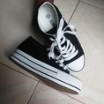 Giầy converse đen trắng 5cm 150