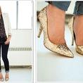 Giày sequin lấp lánh theo từng bước chân