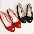 G43: Giày búp bê nhung maomao,mèo hàng có sẵn