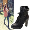 Ankle boots siêu cao gót, chống thấm nước, phong cách Âu Mĩ, ôm chân, đi chắc, dáng khỏe, mạnh mẽ và cá tính