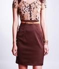 Tly váy công sở Trali sz M mới 100% màu nâu đất đẹp tuyệt chiêu, hihi