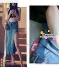 Váy maxi cotton H M, váy voan váy maxi vải thô mát cho mùa hè 2014