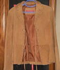 Áo vest da thật handmade Jennyefer, mua tại Mỹ.