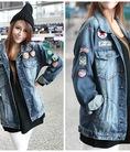 Sành điệu trẻ trung với áo khoác jean, da độc đáo