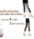 Quần legging 2 lớp lót lông giả màu da Quần legging 2 lớp lót lông cừu hàng loại 1 thượng hải 115.000