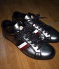 Thanh lý 1 đôi Moncler Monaco Low Top Leather Sneaker, Silver