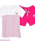 Đồ bộ mùa hè quần sooc ngắn hiệu Pink NN198