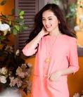 Đầm suông tay lỡ ngọc trinh, linh chi 2 túi dễ thương màu hồng cam ,trắng mùa hè thêm quyến rũ