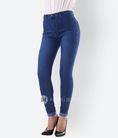 Hằng Jeans jeans cạp cao, chất liệu jeans chun co giãn đa chiều