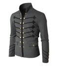 Áo khoác cao cấp AHKIRA Mens Jacket with Button Detail size XL GAK08 Gray