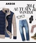 Aó phao siêu nhẹ UQL, áo dạ , áo da ....Nam thu đông 2015
