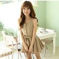 вибрати розмір: Khaki. оптом Красивое платье хаки цвета в стиле корейском.