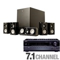 Klipsch HD500 Home Theater Speaker System and Onkyo TXSR508 Home Theater Receiver Bund