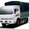 Bán xe tải cũ Kia 1,4 tấn, Frontier Trường Hải,thùng mui bạt màu trắng đời T5/ 2014, biển Hà Nội