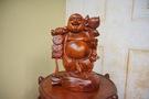 Tượng thần tài gỗ Hương cao 30.