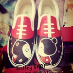 SmileySHOP: Giầy vẽ Vans Buxp off the wall