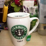 Cốc sứ Starbucks nắp sứ