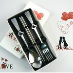 Bộ muỗng nĩa đũa trái tim MSP583