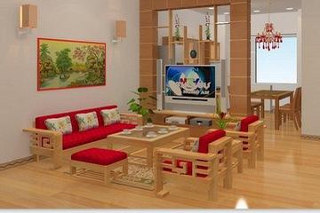 sofa gỗ tự nhiên tưng bừng giảm giá cực shock chỉ 18 triệu