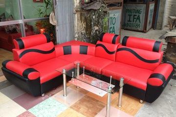 sofa góc giả da giá 3.450.000/bộ