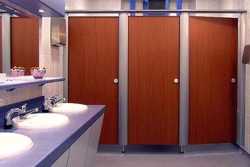 compact vân gỗ làm vách vệ sinh
