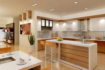 MSP 012 : Mẫu tủ bếp gỗ Laminate trắng sang trọng mẫu 2014