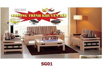 Sofa gỗ tự nhiên giá khuyến mãi. Nội thất Kim ANh Sài Gòn