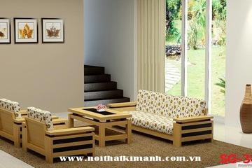 Sofa gỗ tự nhiên. Nội thất Kim Anh khuyến mãi tết giá tốt nhất thị trường