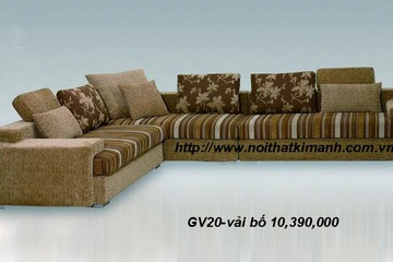 Sofa phòng khách, sofa vải bố, vải nhung sang trọng