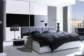 MSP 006. Giường ngủ gỗ verneer  sơn trắng cao cấp mẫu 2014
