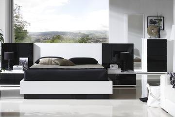 MSP 018. Giường ngủ gỗ veneer sồi đẹp mẫu 2014