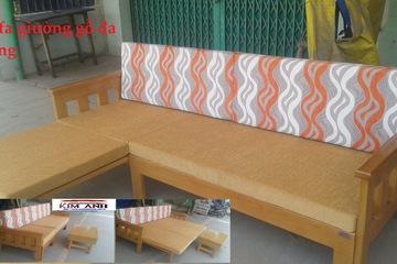 Sofa giường đẹp, sofa GỖ GIƯỜNG đa năng 3 in 1 tiện lợi giá tận gốc
