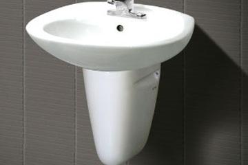 Chậu rửa treo tường và chân chậu Inax L 284V   L 284VC