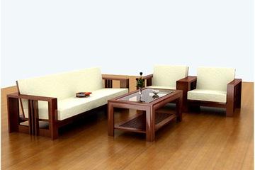 Sofa gỗ phòng khách Mộc Tín: Khuyến mại hè