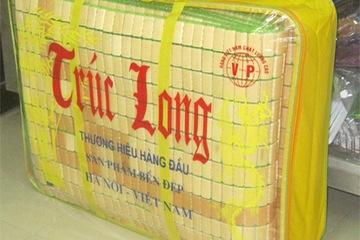 Chiếu Trúc Long viền nâu hạt nhỏ 160 x 200