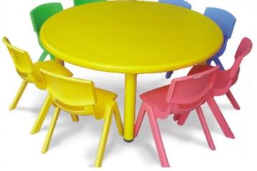 Bàn ghế trẻ em cao cấp hình tròn
