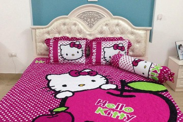 Bộ Hellokitty cotton lụa