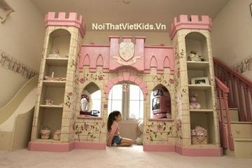 Giường tầng lâu đài cho  bé