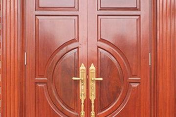 Cửa gỗ căm xe , cửa chính gỗ căm xe