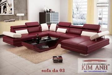 Sofa da, sofa ngoại nhập khẩu. Nội thất Kim Anh