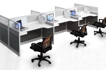 Vách ngăn kính bàn làm việc hiện đại VNBLV18