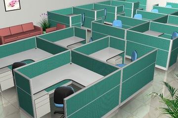Vách ngăn văn phòng bọc nỉ bền đẹp VNBN04