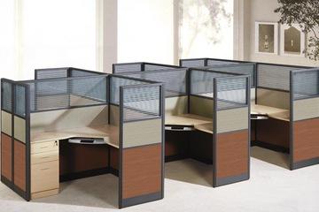 Vách ngăn văn phòng gỗ kính VNBLV01