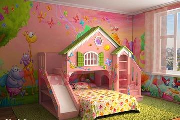 Giường tầng trẻ em hình ngôi nhà