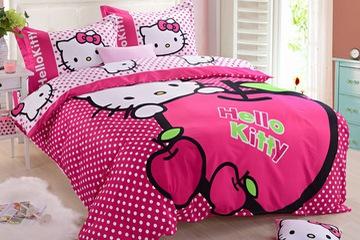 Minh Minh  Bộ Chăn ga gối Kitty hồng cho bé yêu
