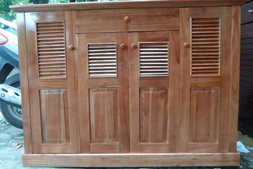 Tủ giày gỗ xoan ta 4 cánh