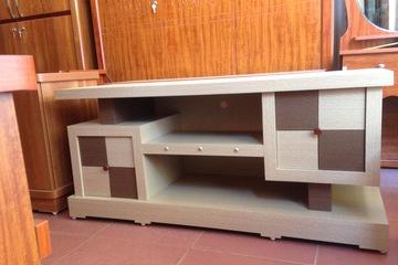 Kệ Tivi gỗ công nghiệp MDF phủ Simily màu trắng dài 1.2m