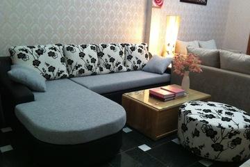 Nội thất cao cấp Luxury Home   Bộ sofa góc nỉ mã LH FCS49